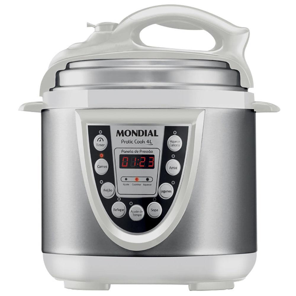 Panela de Pressão Elétrica Mondial Pratic Cook Premium