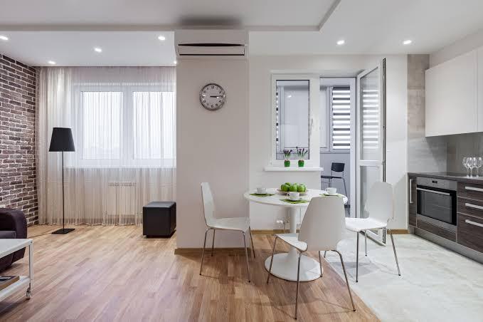ambiente com o melhor piso laminado