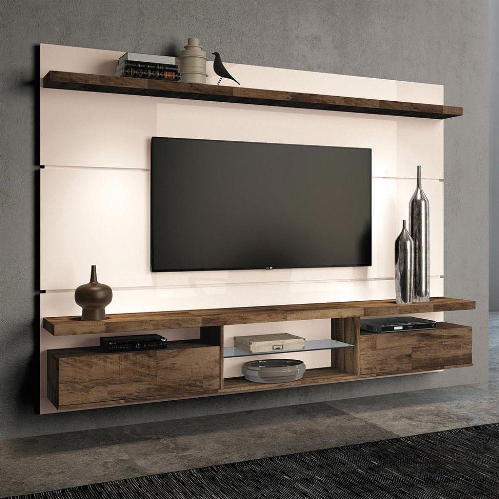 Existem vantagens e desvantagens em usar um rack para TV ou um painel.