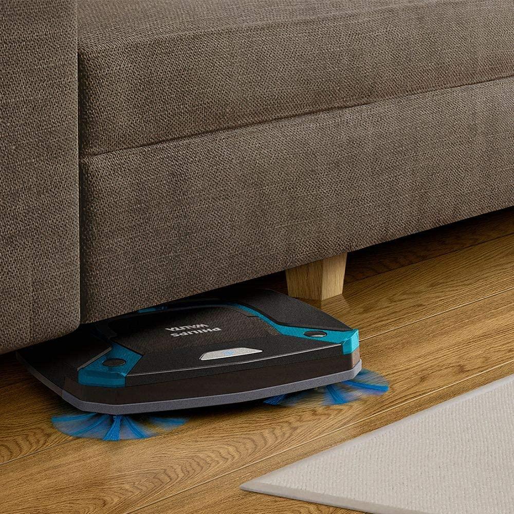 Robo Aspirador SmartPro Easy PHILIPS WALITA é bom porque consegue passar embaixo dos móveis.