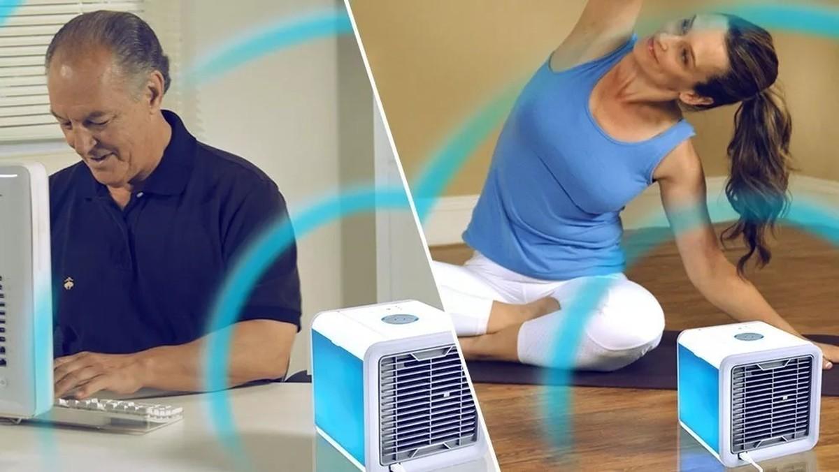 O climatizador de ar pode ser usado para tornas as temperaturas mais agradáveis.