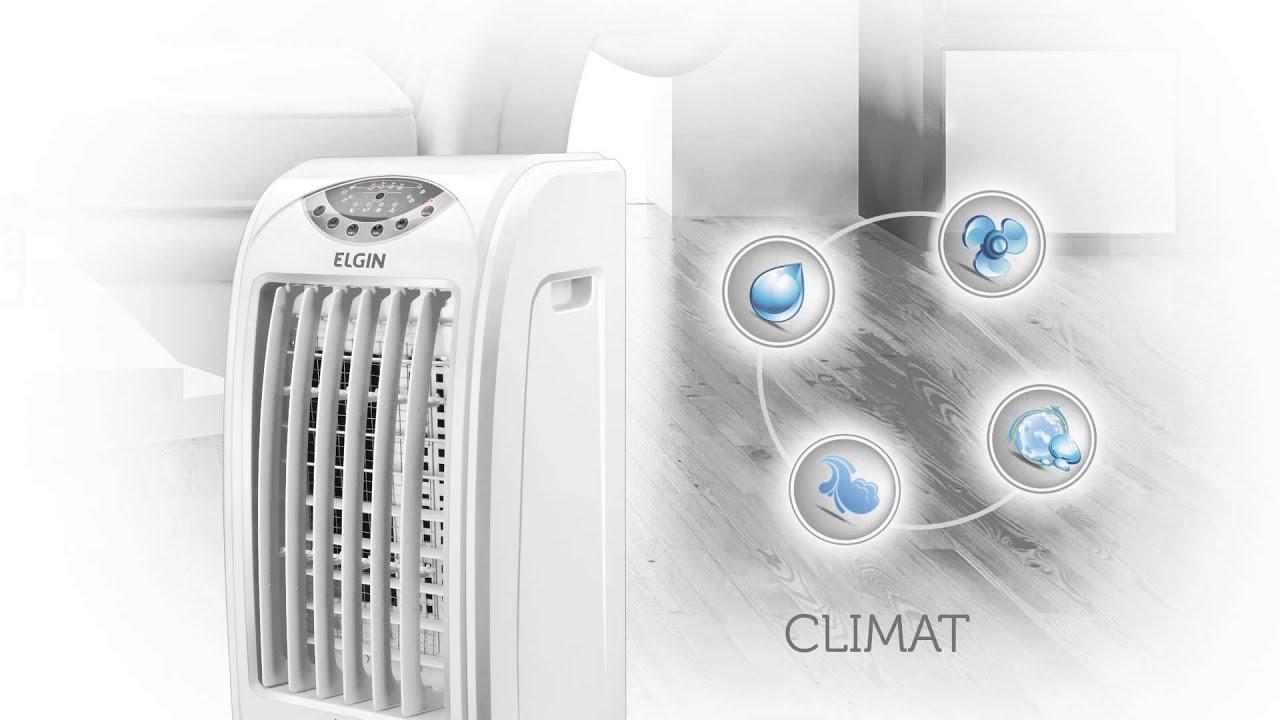 O climatizador de ar Elgin é bom porque resfria, umidifica, circula e melhora a qualidade do ar.