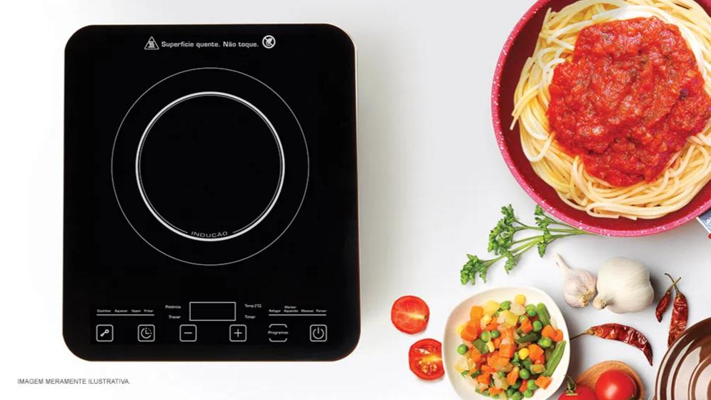 O cooktop Polishop é bom porque é mais prático e ocupa menos espaço.