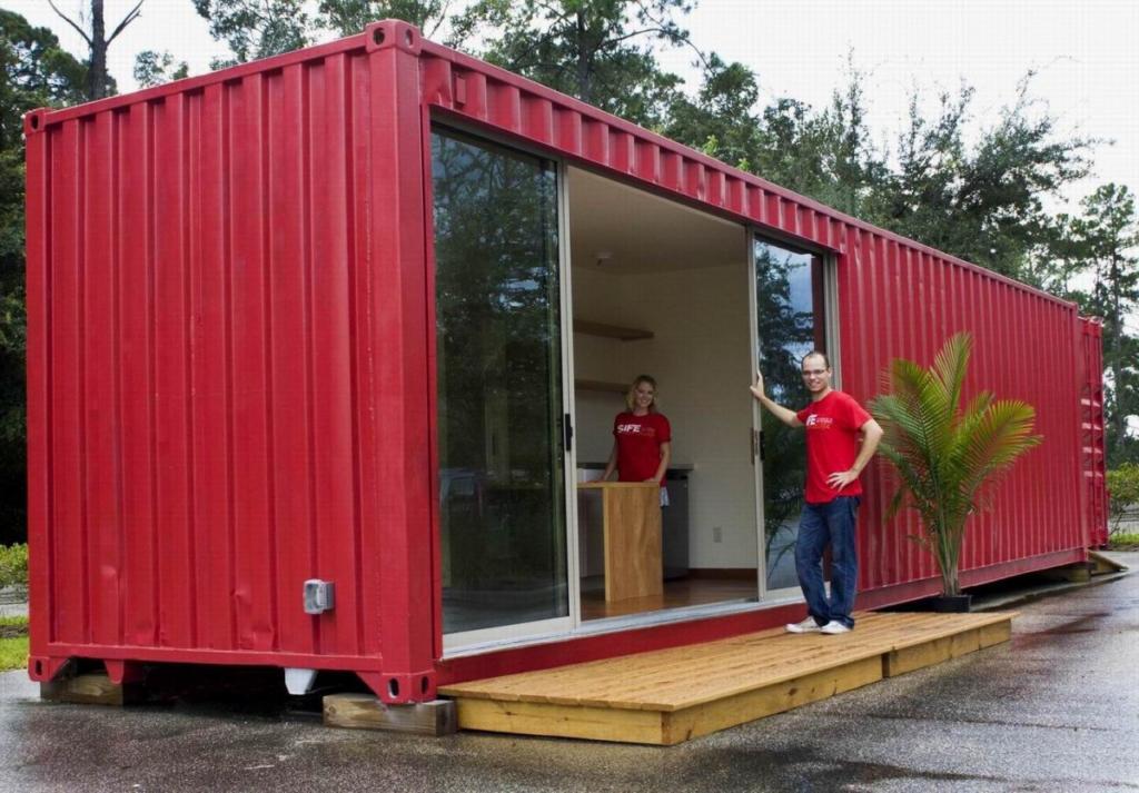 casa container vermelho