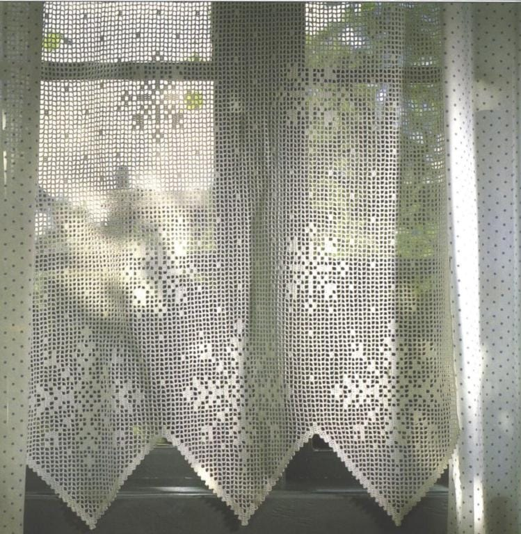 95 modelos de cortinas de croch u00ea e passo a passo total Easy Sew Kitchen Curtain Patterns Kitchen Window Curtain Patterns