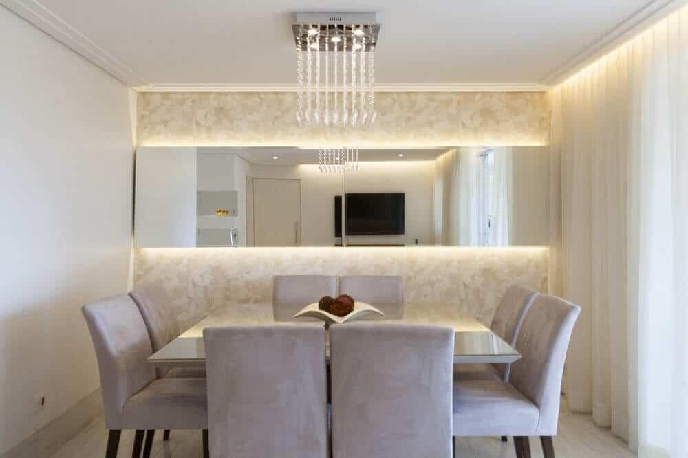 Salas De Jantar Com Espelhos Modelos E Ideias Tc