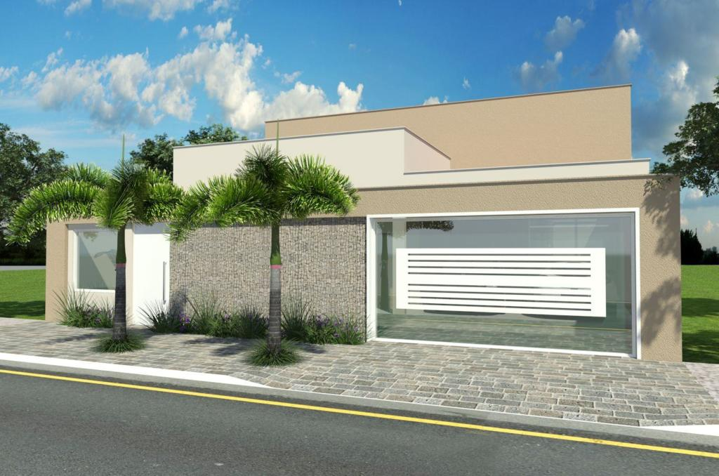 120 fachadas de casas simples e pequenas fotos lindas for Casa moderna 7x15