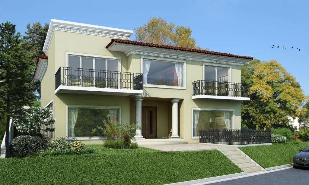 120 fachadas de casas simples e pequenas fotos lindas for Fachadas apartamentos modernos