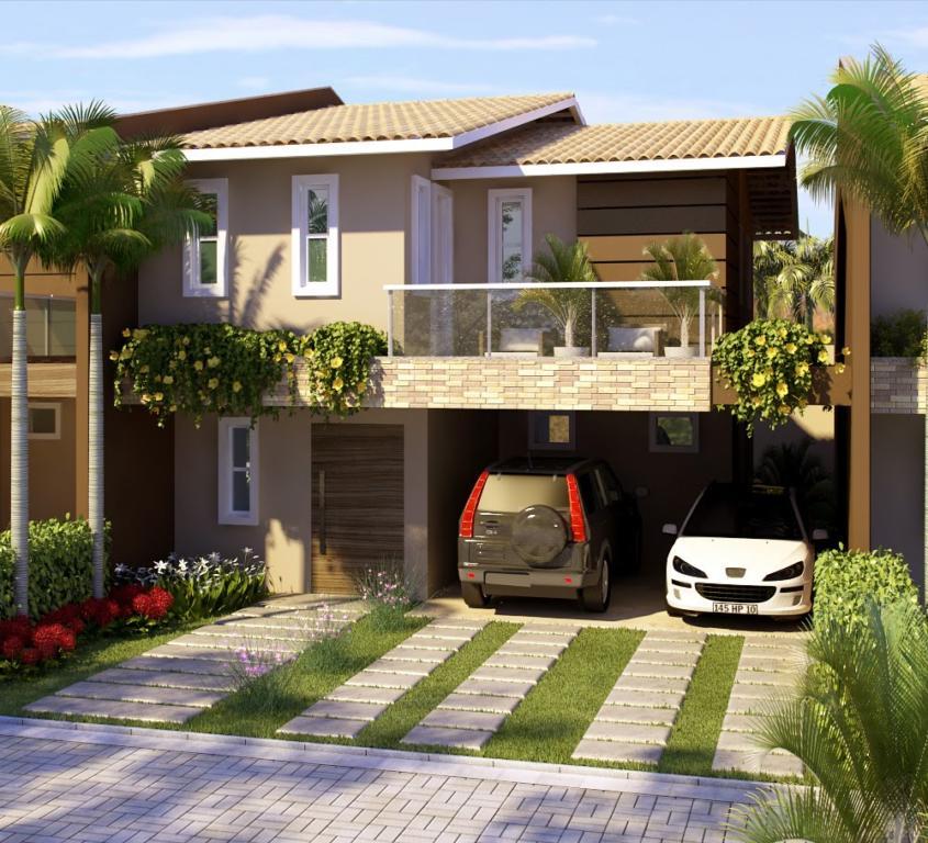 120 fachadas de casas simples e pequenas fotos lindas for Casa moderna total white
