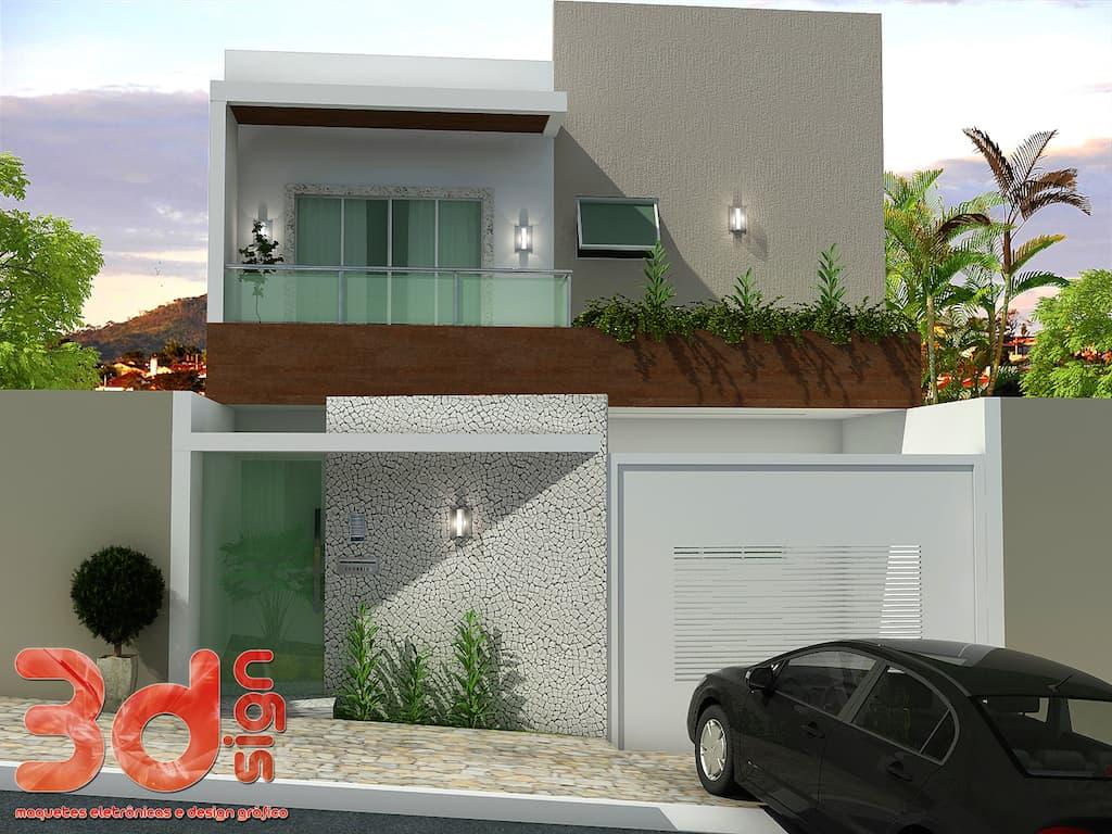 120 fachadas de casas simples e pequenas fotos lindas for Fotos de casas modernas simples