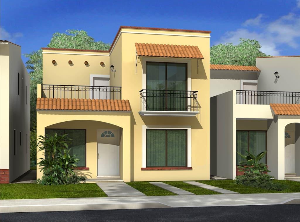 120 fachadas de casas simples e pequenas fotos lindas for Fachada de casas modernas con balcon