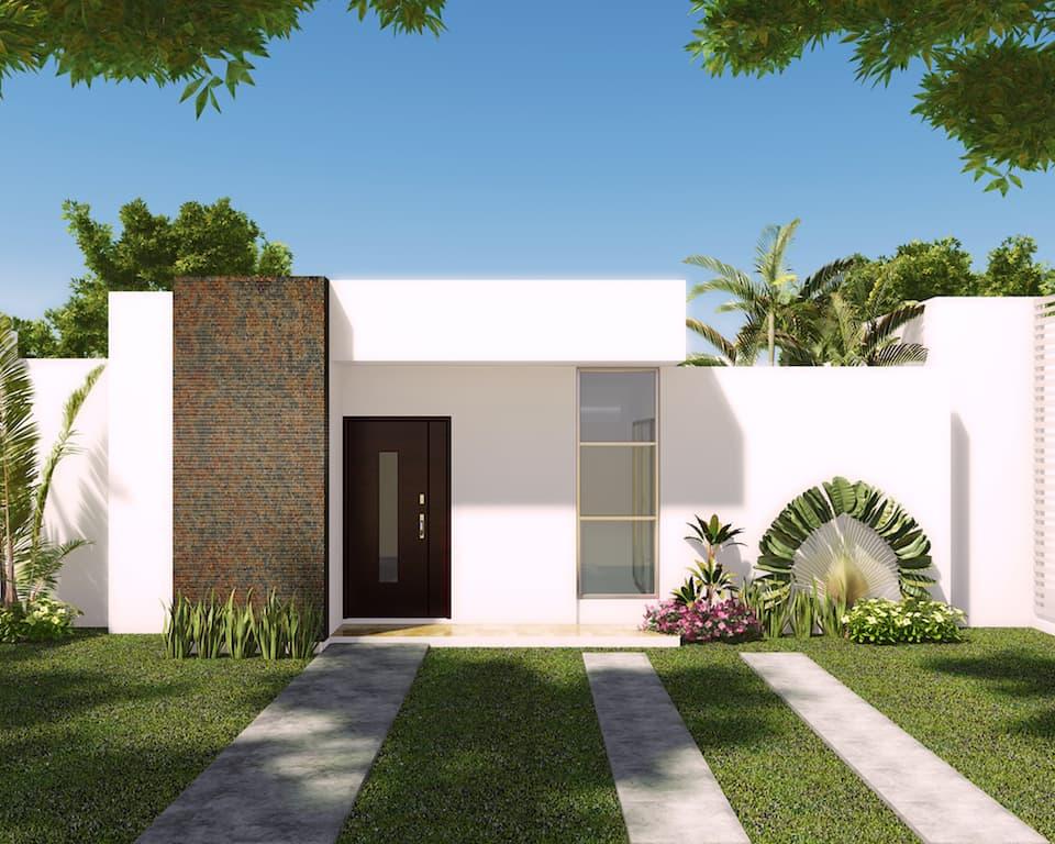 120 fachadas de casas simples e pequenas fotos lindas for Modelos de casas minimalistas pequenas