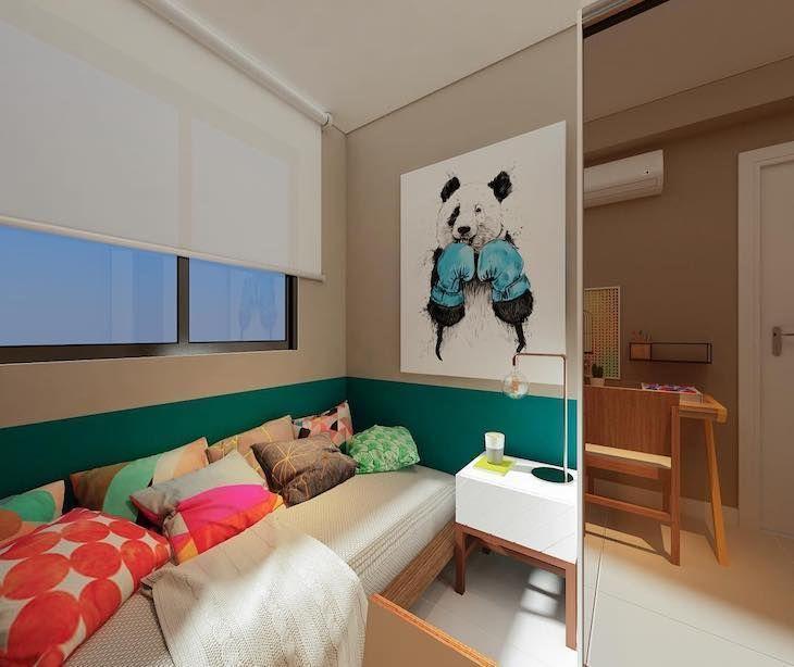Quadro de panda com luvas de boxe