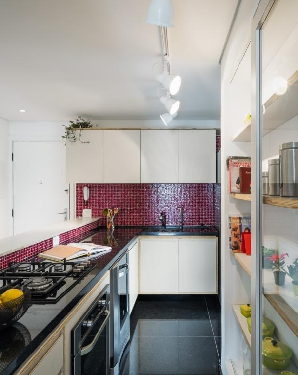 Cozinha Corredor Estreita 60 Projetos Fotos E Ideias Or Amento  ~ Armario De Cozinha Bancada Acozinha Americana Decorada