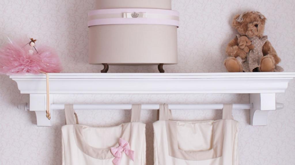 100 Nichos Para Quartos De Beb S Lindos E Inspiradores  ~ Estante Planejada Para Quarto E Quarto De Luxo De Menina