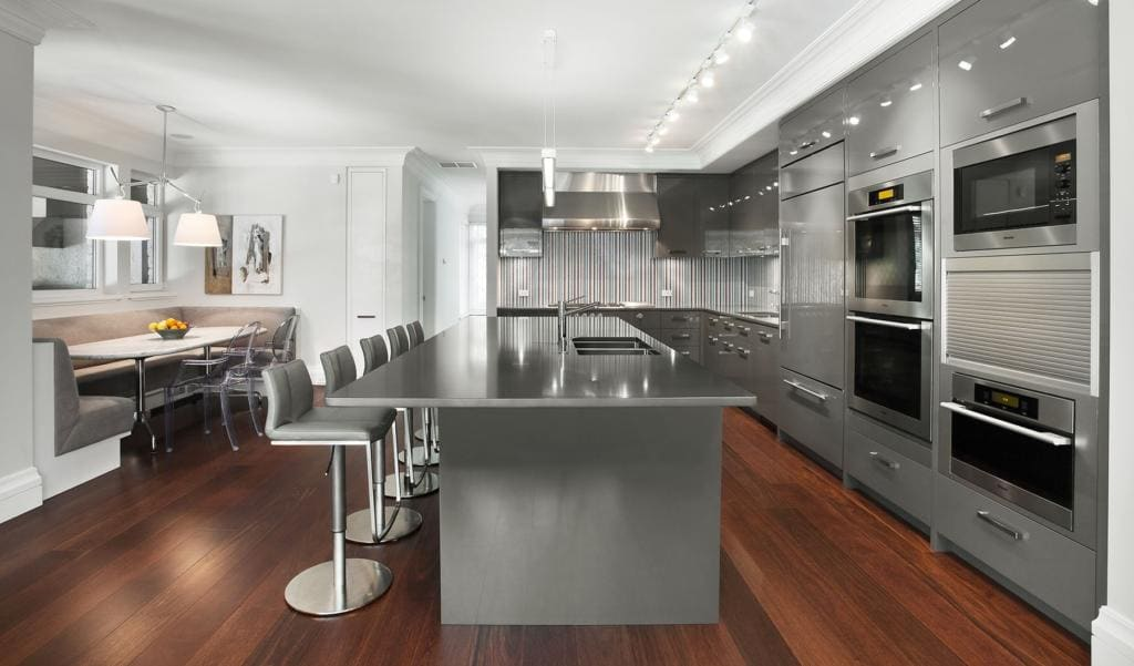 Modern Wooden Kitchen Storage Cabinet Closed To White Fur Carpet Modern  Kitchen Storage Ideas Modern Kitchen