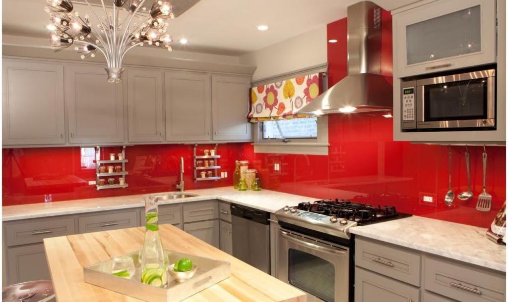 Cozinha Vermelha Com Preto Simples Pequena Or Amento De Obras ~ Cozinha Cinza Com Vermelho