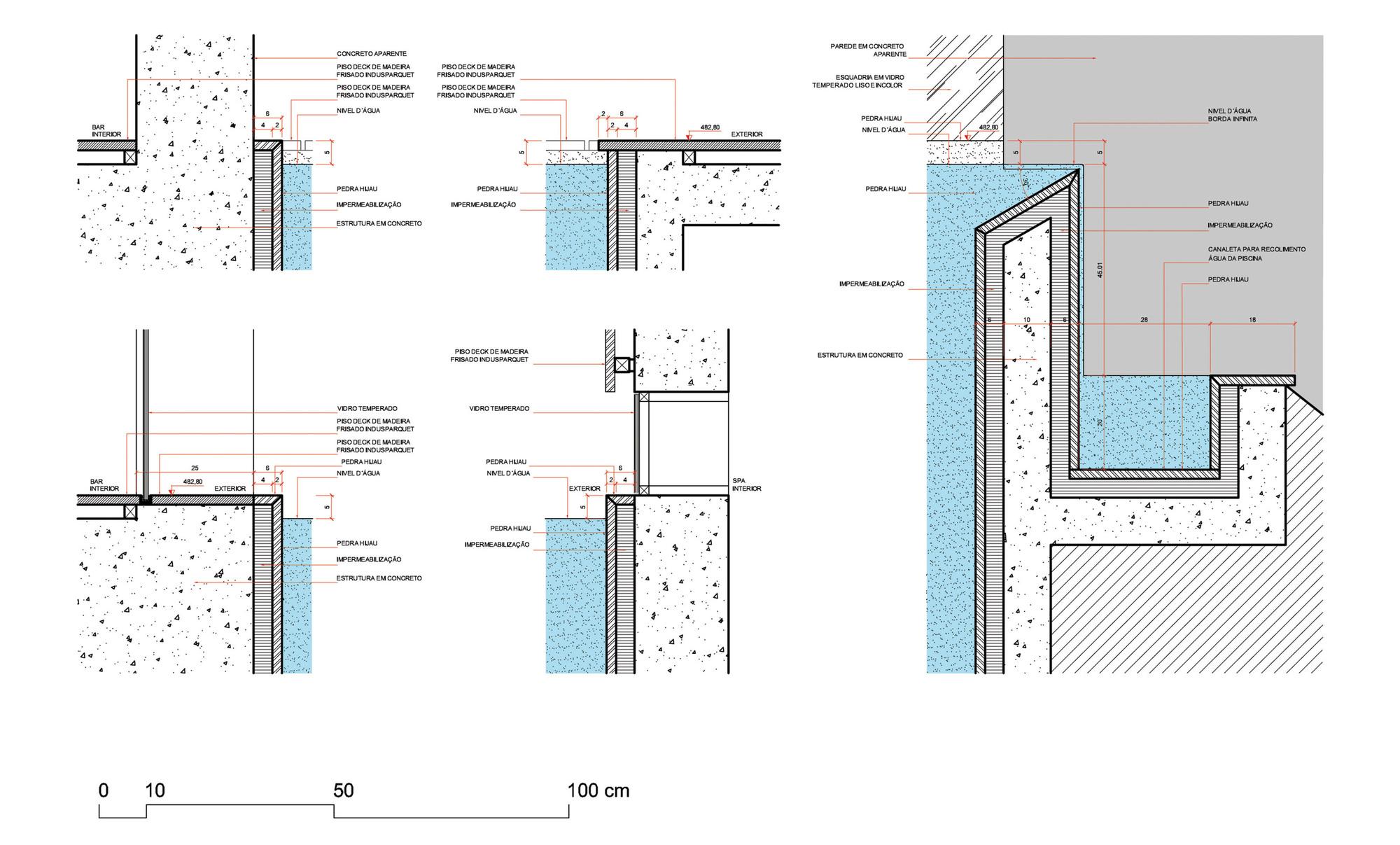detalhe construtivo piscina borba infinita