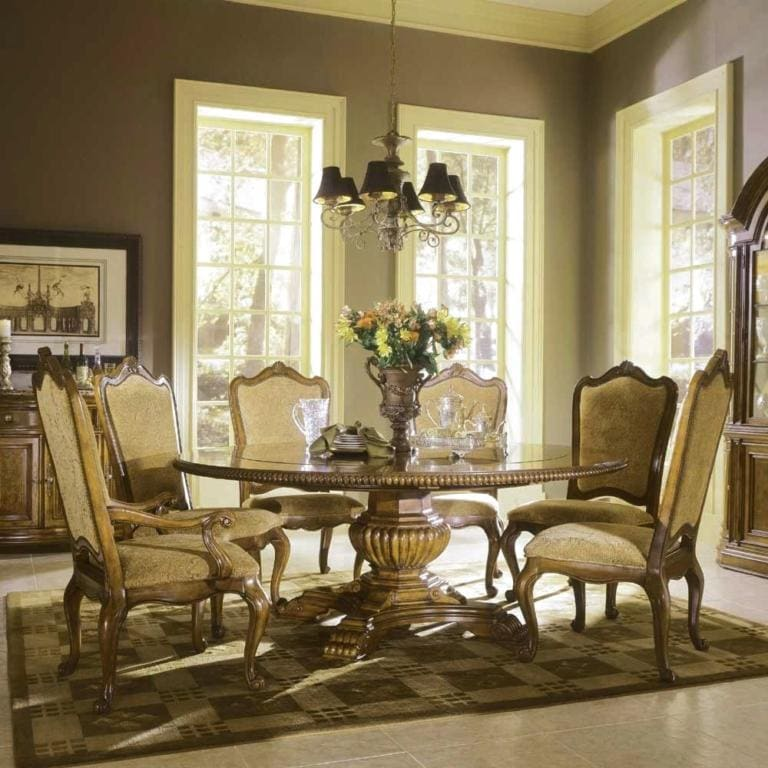 Round Dining Room Table With 6 Chairs