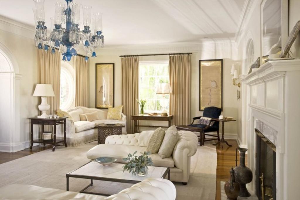 Sala de estar de luxo chiques e modernas mais de 89 fotos total constru o - Contemporary formal living room design ideas ...