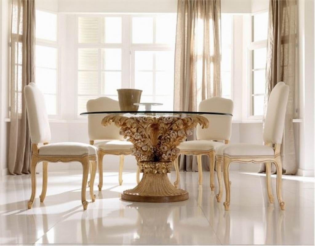 Mesa de jantar com base luxuosa
