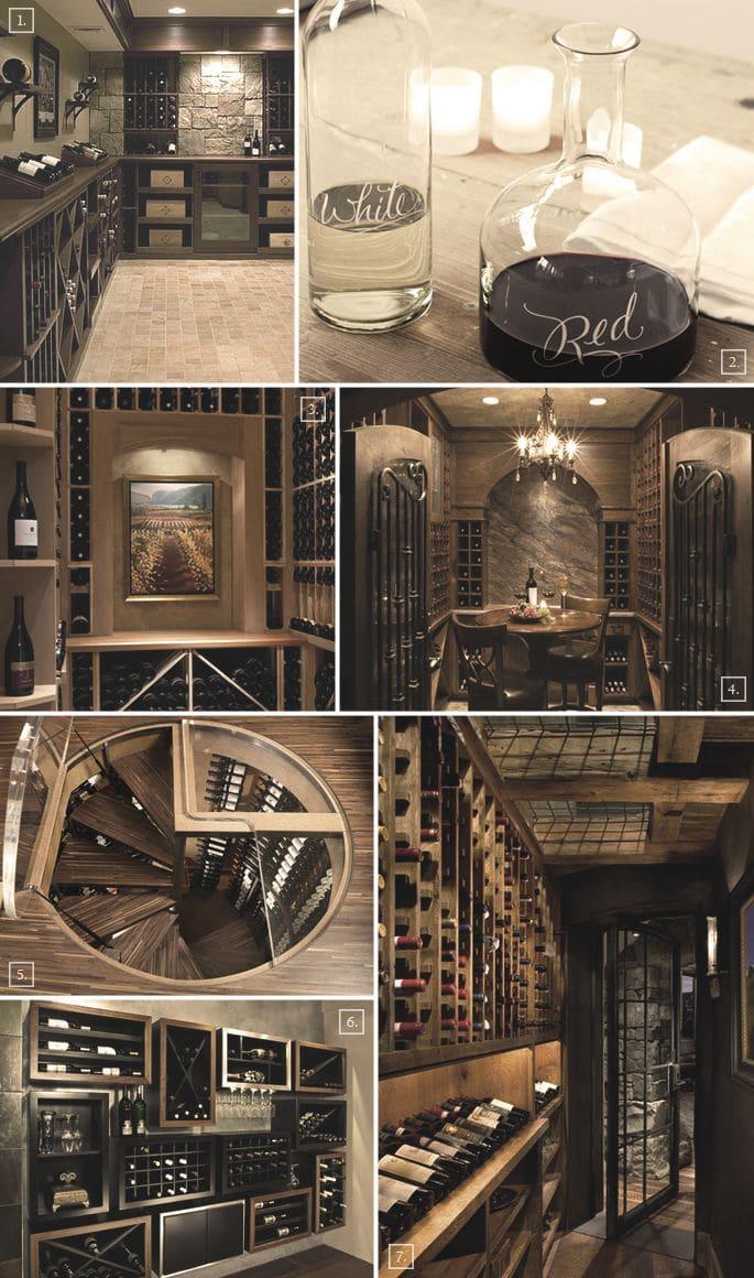 exemplos de adegas de vinhos