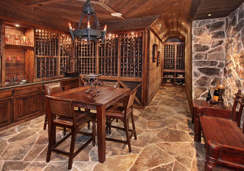 adega de vinhos + sala de jantar