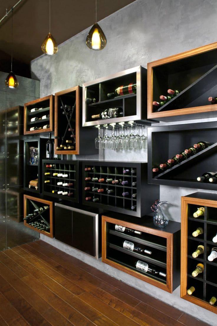 espaço otimizado para guardar seus vinhos