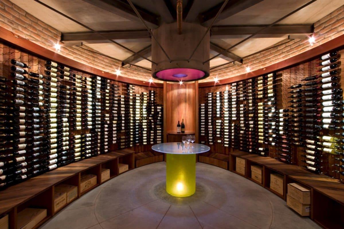 adega de vinhos circular