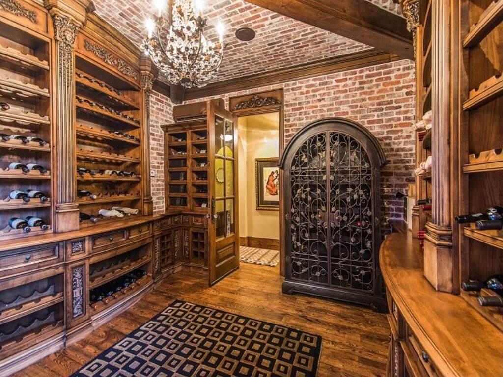 adega de vinhos luxuosa