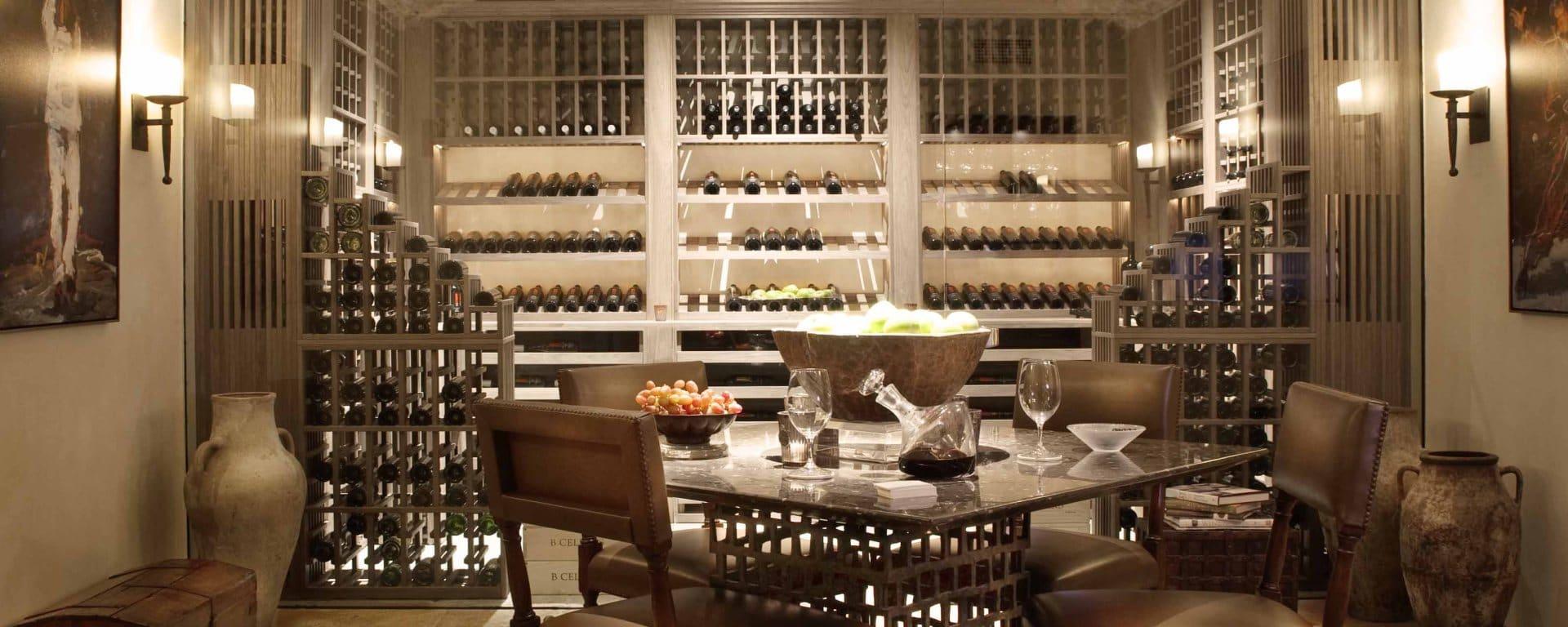 adega de vinhos moderna e luxuosa