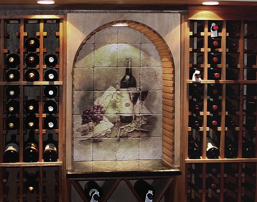 pintura na adega de vinhos