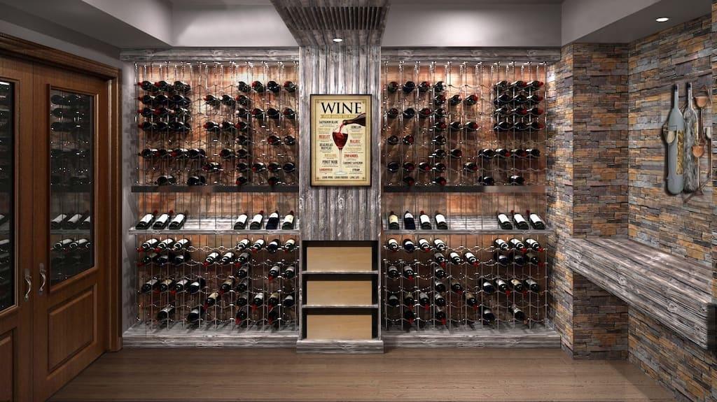 adega de vinhos bem decorada