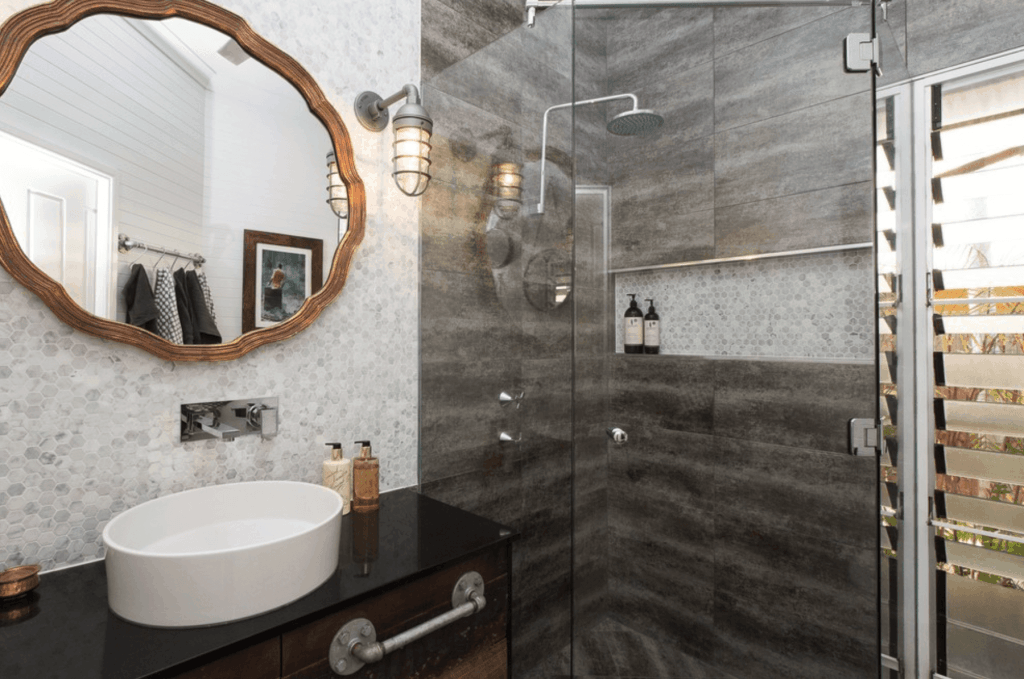 Banheiro De Luxo Decorado Com Banheira Preto Etc 89