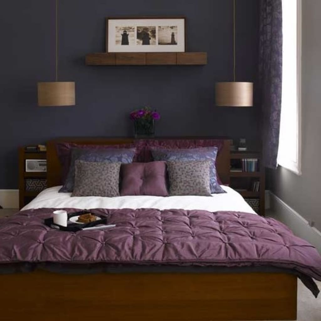 Small Blue And Purple Bedroom Ideas Purple And Grey Living