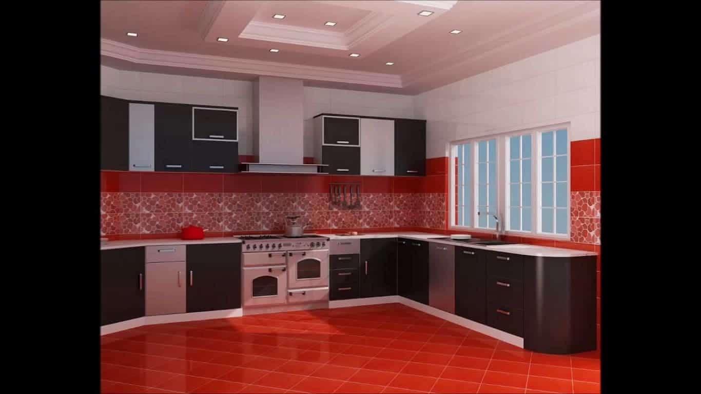 Cozinha Preta E Vermelha Simples Pequenas Planejada E Americana Total Constru O