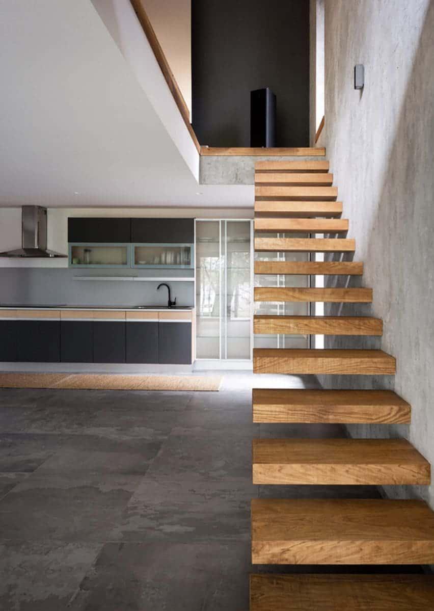Escada De Madeira Para Sala Simples Caracol Etc 89