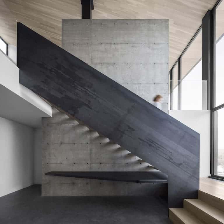 Lindas Escadas Residenciais Simples Concreto Internas E