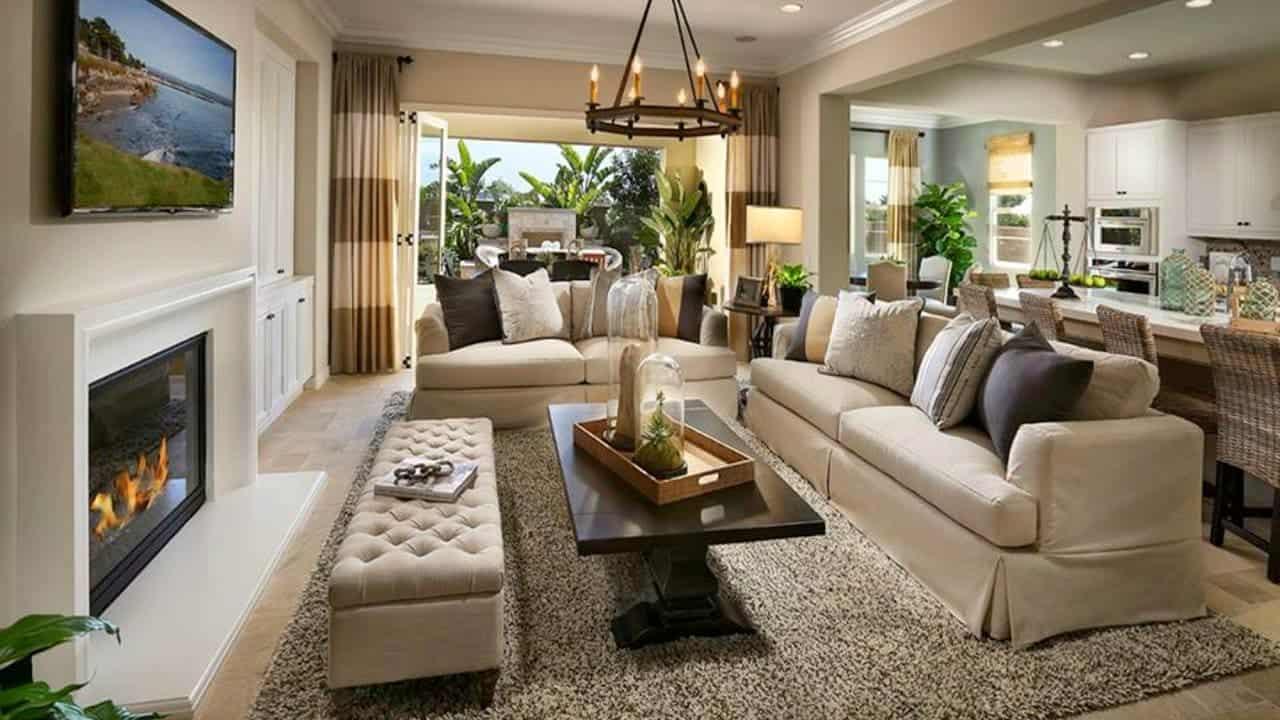 Fotos de sala de estar total constru o - How to design a living room space ...
