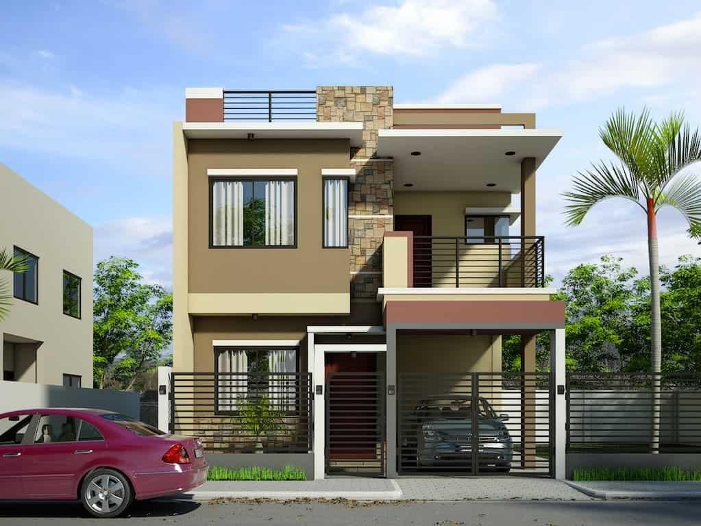 120 fachadas de casas simples e pequenas fotos lindas for Design moderno casa