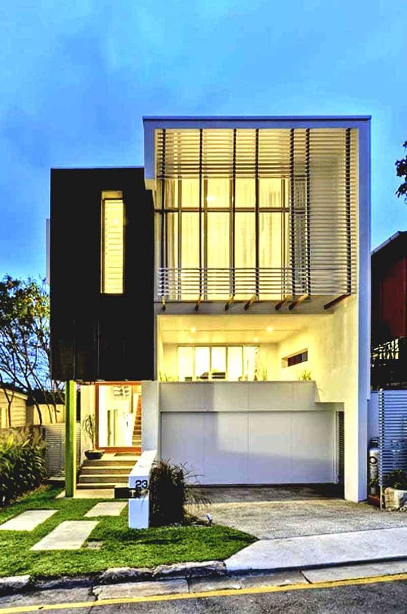 Curved Front Elevation Designs : Frente de casas modernas total construção