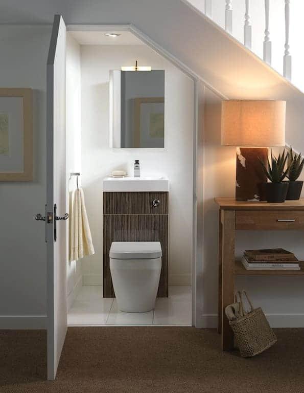 Lavabo banheiro embaixo da escada 132 fotos e ideias total constru o - Bagno piccolissimo in camera ...