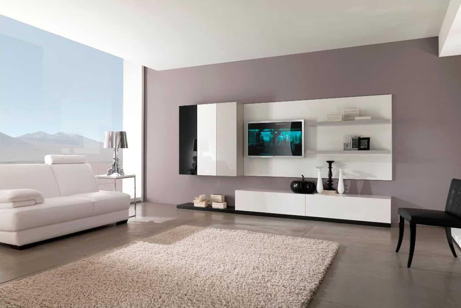Modelos De Sala De Estar Pequena Simples Decorada 105 Fotos  -> Lustre Para Sala De Tv