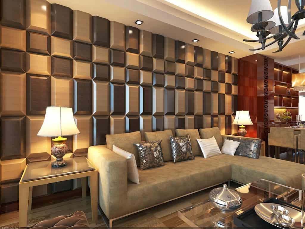 Sala com gesso 3d total constru o - Wall design for living room philippines ...