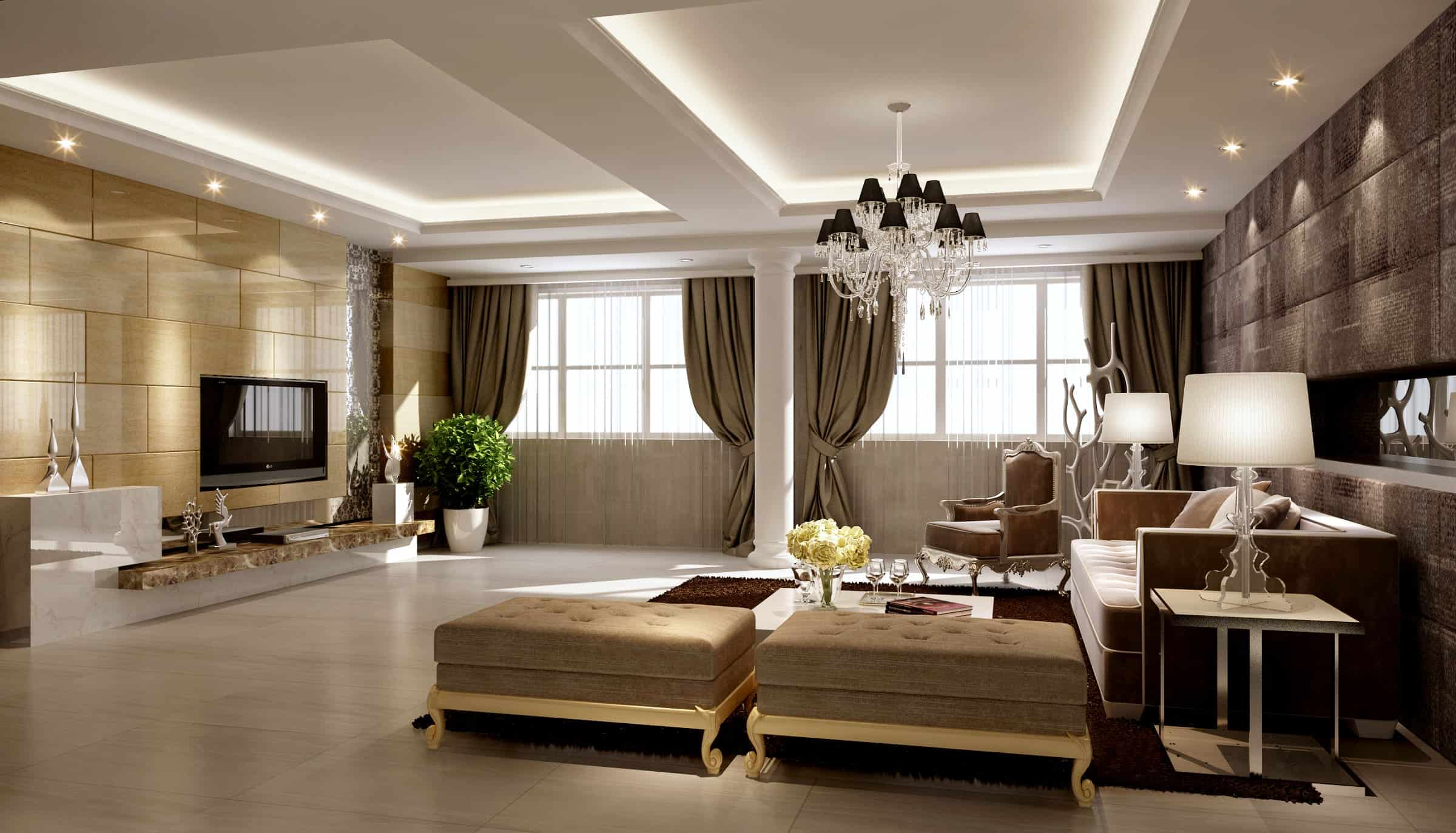 Modelos de sala de estar pequena simples decorada 105 for Modelos de sala de estar