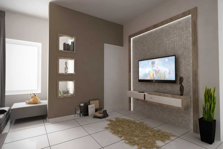 Modelos De Sala De Estar Pequena Simples Decorada 105 Fotos  -> Sala Pequena Decorada Home Theater