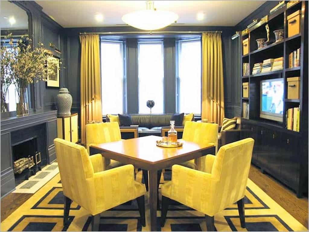 Sala De Jantar Pequena Com Espelho 102 Fotos E Ideias Total  -> Sala De Jantar Com Painel De Madeira E Espelho