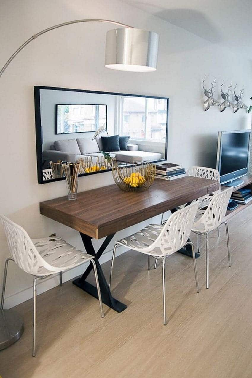 Sala De Jantar Pequena Com Espelho 102 Fotos E Ideias Total  -> Sala De Jantar Pequena Clean