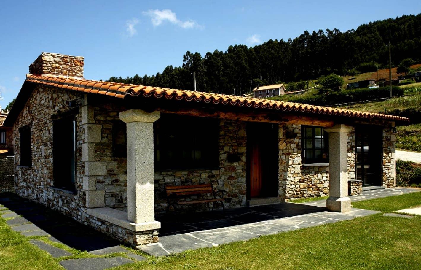 Casas r sticas modernas simples de campo da ro a for Planos de casas de campo rusticas