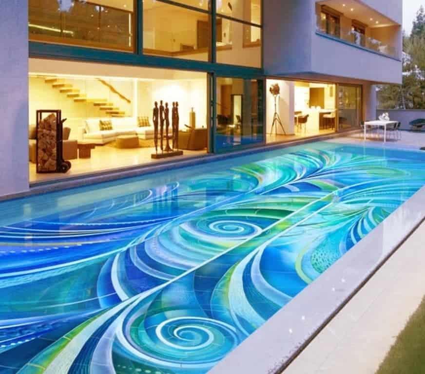 Piscinas modernas casa pequenas grandes 155 fotos tc for Pool design pattern